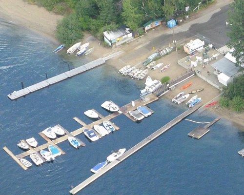 Aerial picture Christina Lake Marina