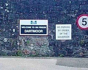 Sign on prison gates