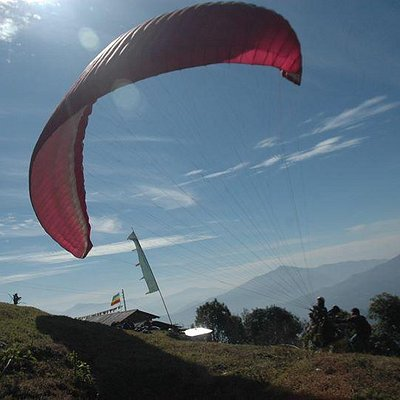 Paragliding take off