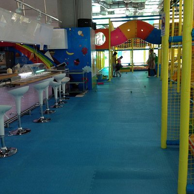 Milkshake bar and obstacle course
