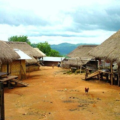 A remote Lahu village, built using natural resources