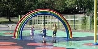 Wet play area, Victoria Park Widnes