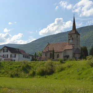Eglise de Concise. Vue du port