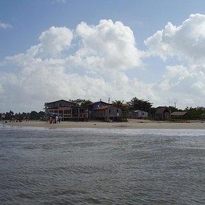 Praia da Vila de Algodoal-Porta de entrada da ilha.