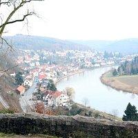 Sicht auf Neckarsteinach
