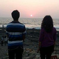Sun set from bandra fort
