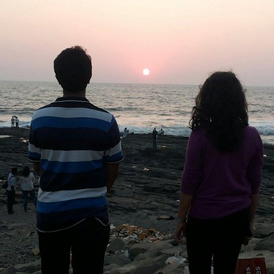 Sun set from bandra fort