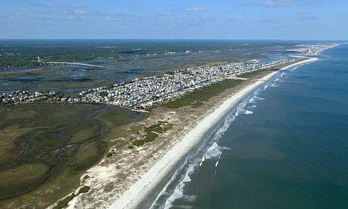 Aerial View of Sunset Beach Island