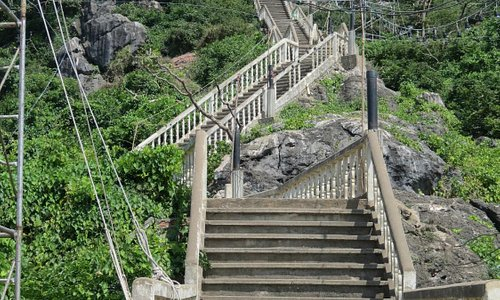 The stairs going up are quite a climb