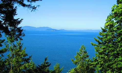 Scenic view of the ocean from Chuckanut Drive