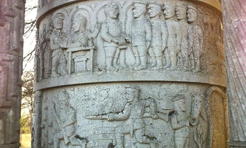 Waggoners' Memorial, Sledmere, East Riding of Yorkshire - Relief 1
