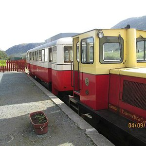 Train in the station.