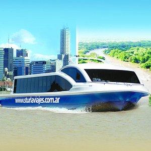 La única empresa que realiza el traslado desde Capital hasta Tigre por el Río de la Plata