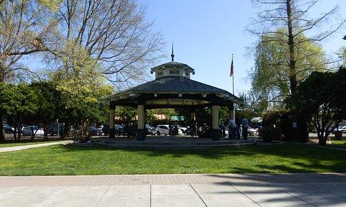 Gaszebo in attractive plaza park