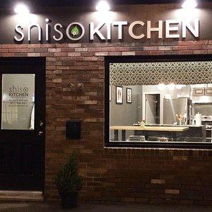 Shiso Kitchen Exterior at Night