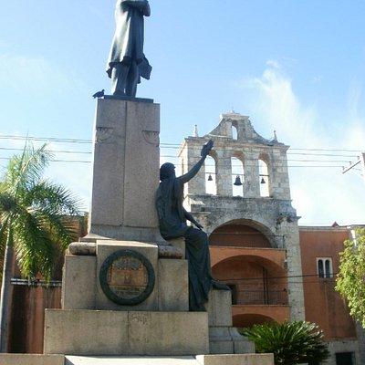 la statua di Juan Pablo Duarte