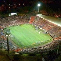 Vista aérea del Estadio durante un Superclásico de Verano