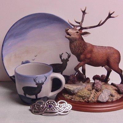 Scottish gifts, including Highland Stoneware