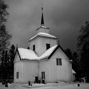 Rauland kyrke en vinterdag 2014