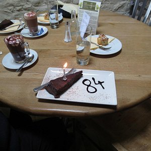 Birthday lunch pud - a superb chocolate affair!