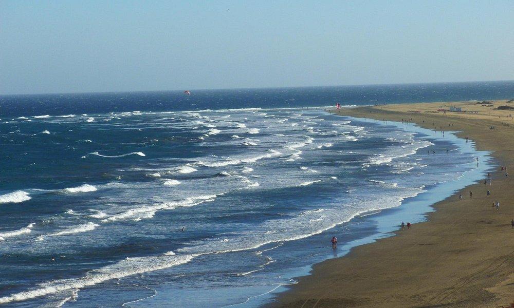Océan agité à la playa del ingles