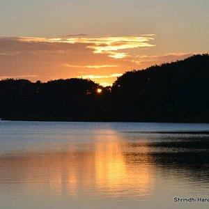 Sunrise at Hebbal lake