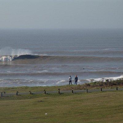 Big surf at Rest Bay