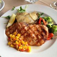 Atlantic salmon, Galett potatoes and veggies