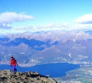 panorama dalla cima del monte Legnone