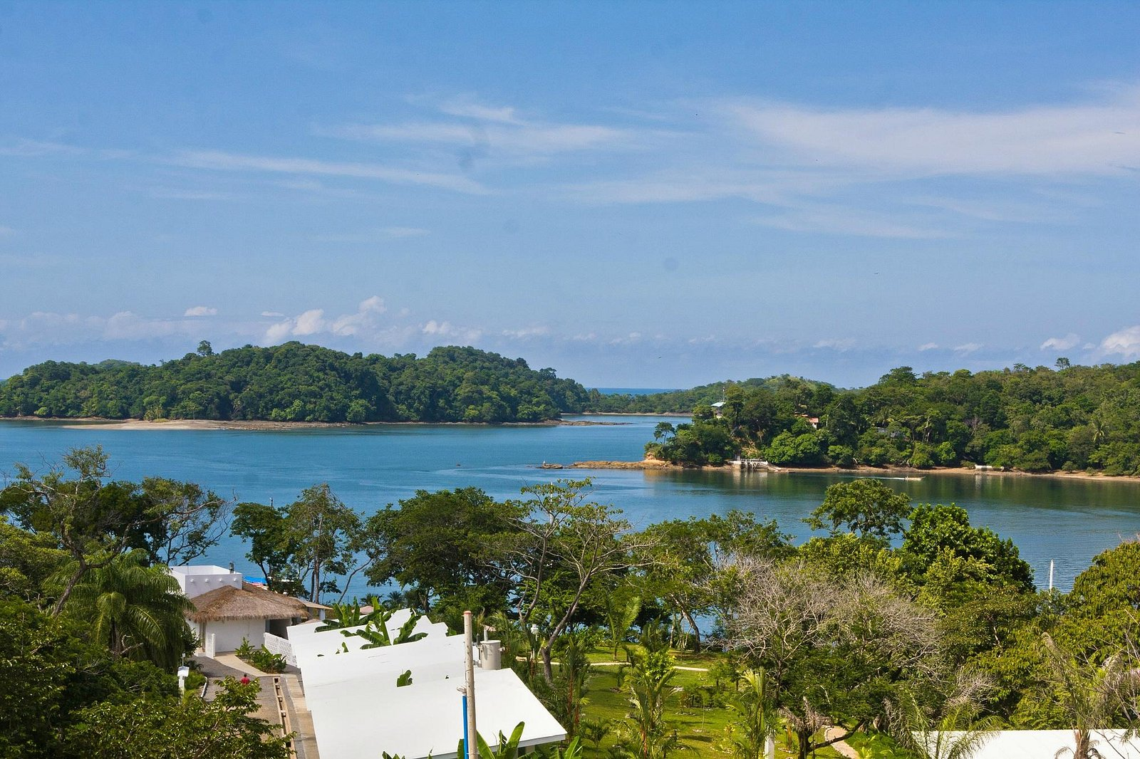 Boca Chica sound & Gulf islands from Bocas del Mar viewpoint