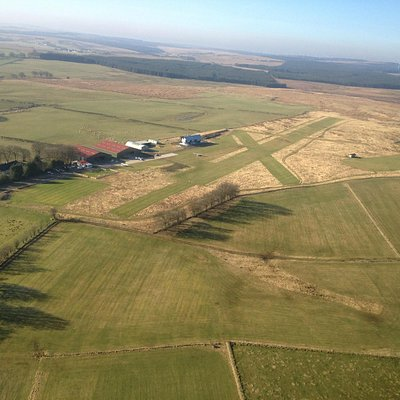 Arial view of Strathaven Airfield
