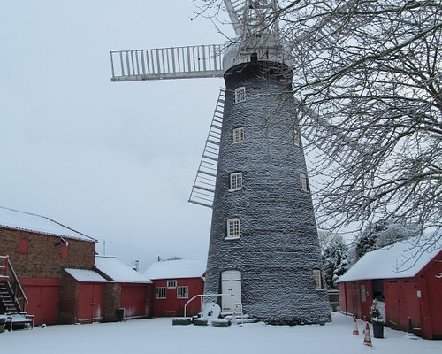The mill in snow