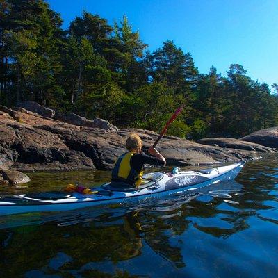 Nice day paddling at Högsåra, Kimito Islands