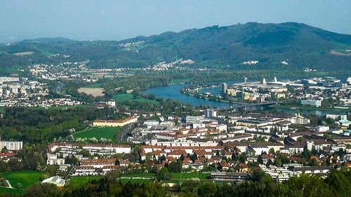 view of Donau from outlook at Postlingberg