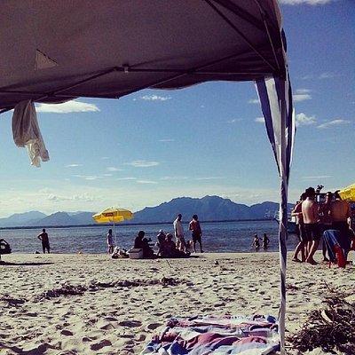Praia do Pereirinha no primeiro dia do ano