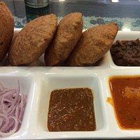 Perfect breakfast Poori with Aloo subzi ,channa chutney and onion
