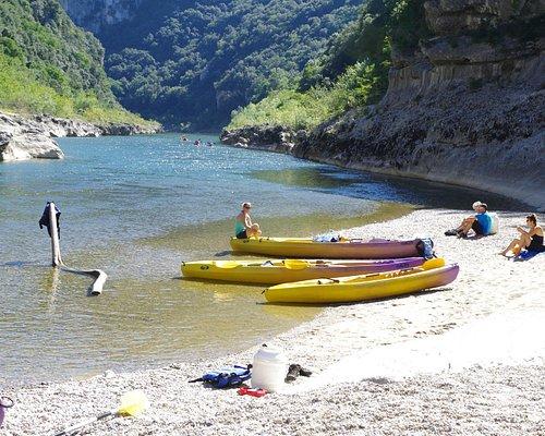 Descente dans les gorges de l'Ardèche