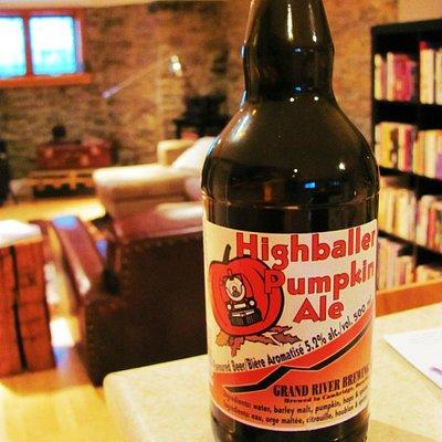 The seasonal Highballer Pumpkin Ale--anticipation is everything!