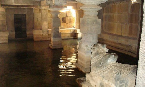 Temple with water