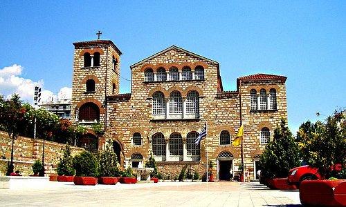 St. Dimitrios basilica, west side-entrance