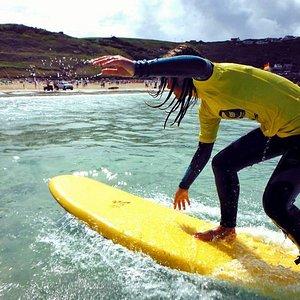 Smart surfing at Sennen