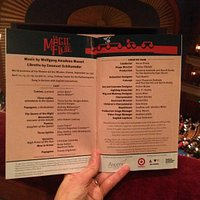 Magic Flute program snapshot taken in Ordway auditorium