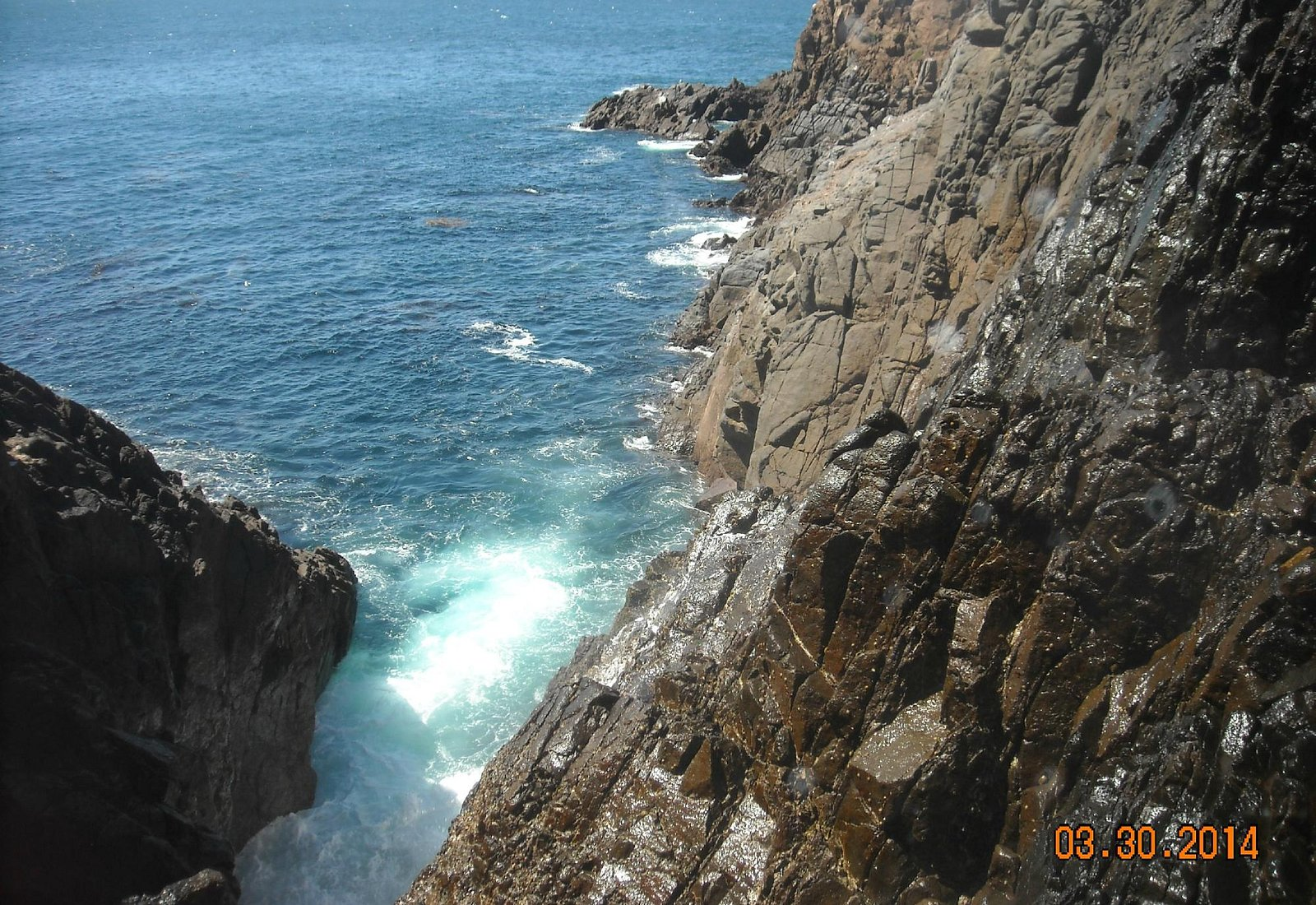 The blowhole starting to rumble