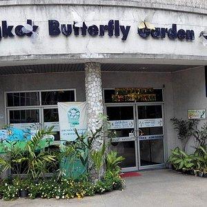 Entrance butterfly garden in Bangkok.