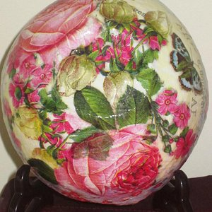 my gorgeous decoupage bowl