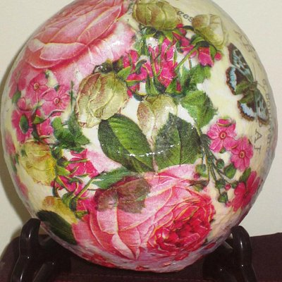 my gorgeous decoupage bowl