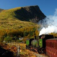 Welsh Highland train near Rhyd Ddu