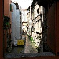 Window of venezia in bologna