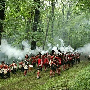 british troops defending