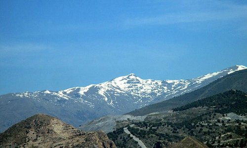 Snow capped mountains above Motril